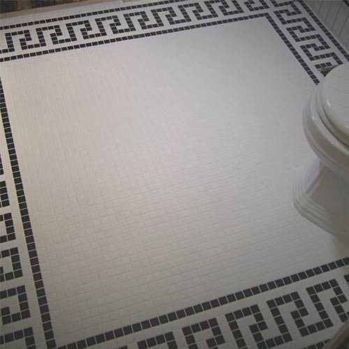 Pacific Grove Ca  1920's mosaic floor restoration by tile contractor Ceramic FInishes