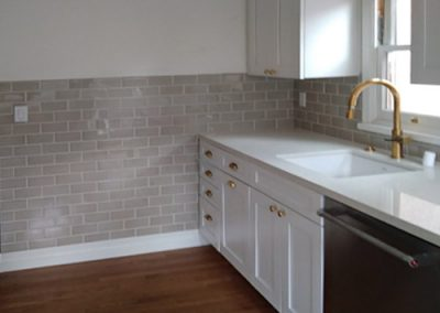 Highland Park kitchen wall and backsplash subway tile installed by Ceramic Finishes, professional tile contractor, Alhambra Ca