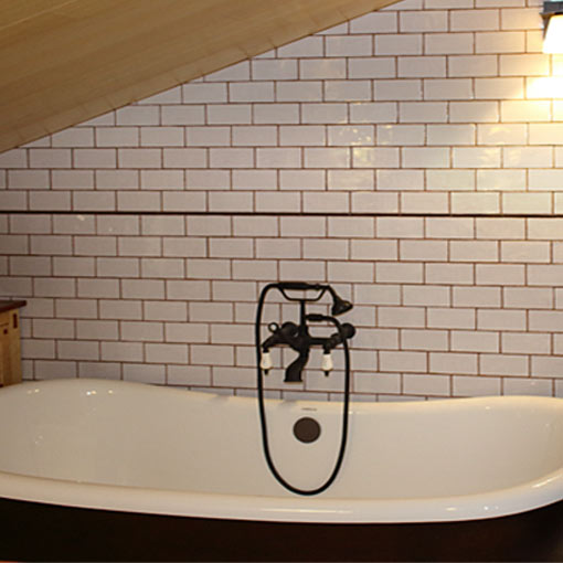 South Pasadena Ca, Craftsman Home Remodel, Attic Bathroom addition by tile contractor Ceramic Finishes