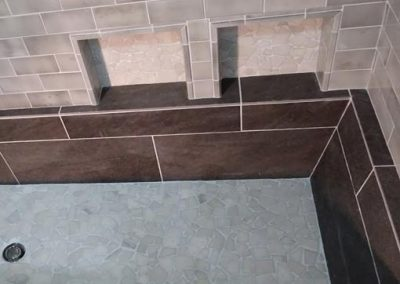 La Canada Ca Roman tub installation by tile contractor Ceramic Finishes, Alhambra, Ca