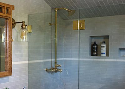 South Pasadena Ca Craftsman Home remodel, upstairs bathroom redone by Ceramic Finishes