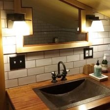 South Pasadena Ca Craftsman Home remodel, attic bathroom addition, by tile contractor Ceramic Finishes