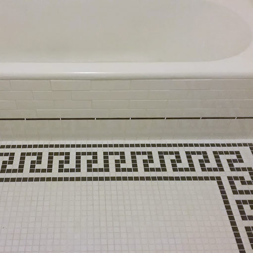 Pacific Grove, Ca, 1920's bathroom restoration, by M. Joe Bermudez, professional tile contractor, Ceramic Finishes, Southern California.